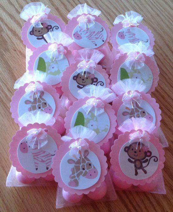 JUNGLE JILL MONKEY baby shower party favors set of by DebbysCrafts, $15.99
