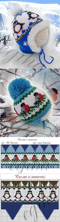 Casquettes tricotées pour les enfants de Elena Zhiganova |  Mlle Lana Wee |  Mme Lana Vi