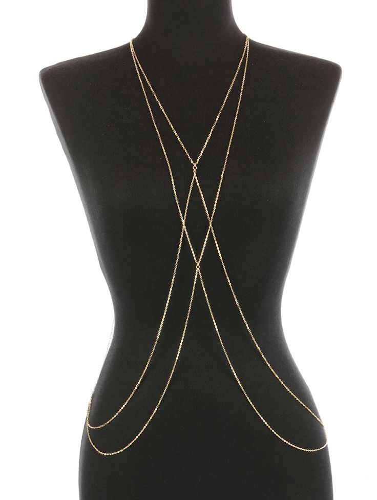 Double Layer Link Body Chain