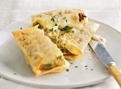 Bricks aux champignons-poireaux-cabecou : peu de calories pour beaucoup de saveurs, ces bricks seront parfaites pour un diner léger.