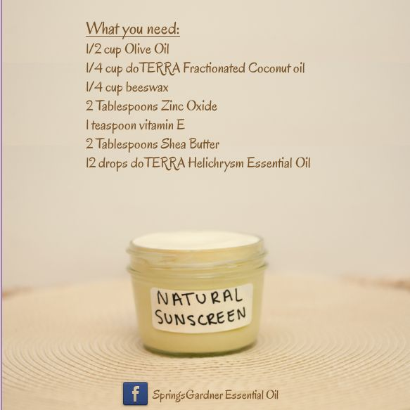 Diy Natural Sunscreen With Doterra S Helichrysum Essential