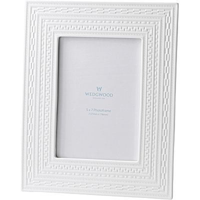 Intaglio White Photo Frame