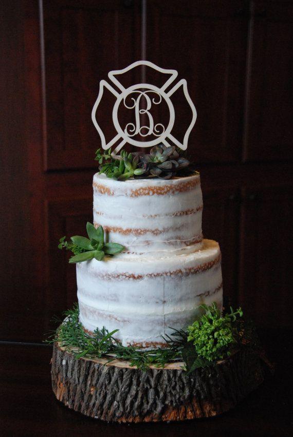 Personalized Cake Topper  Maltese Cross  Fireman  by NeedmoreHeart