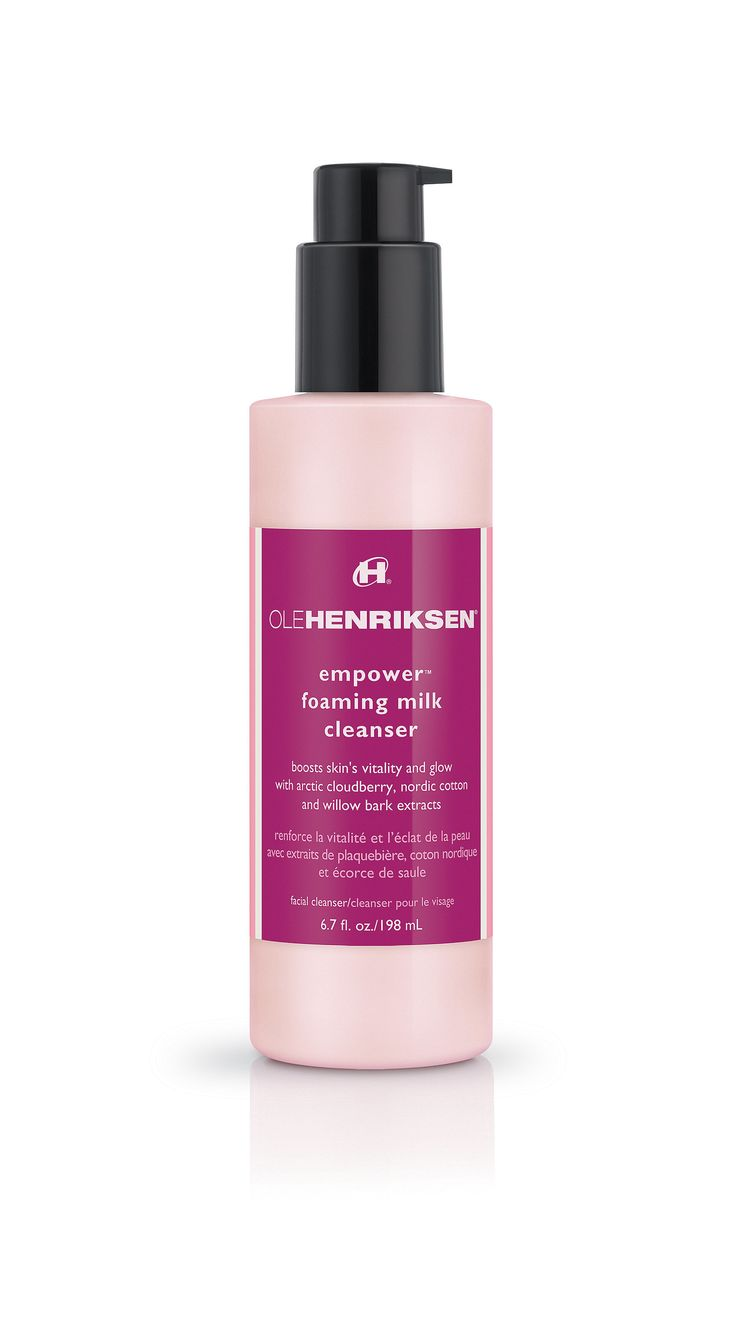 Ole Henriksen Empower Foaming Milk Cleanser. Not irritating, but no need to switch from the usual CeraVe & philosophy