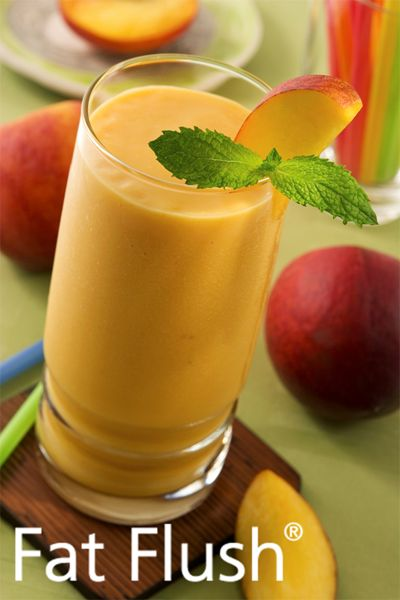 Sweetie Peach Pie Smoothie- Official Fat Flush Recipe