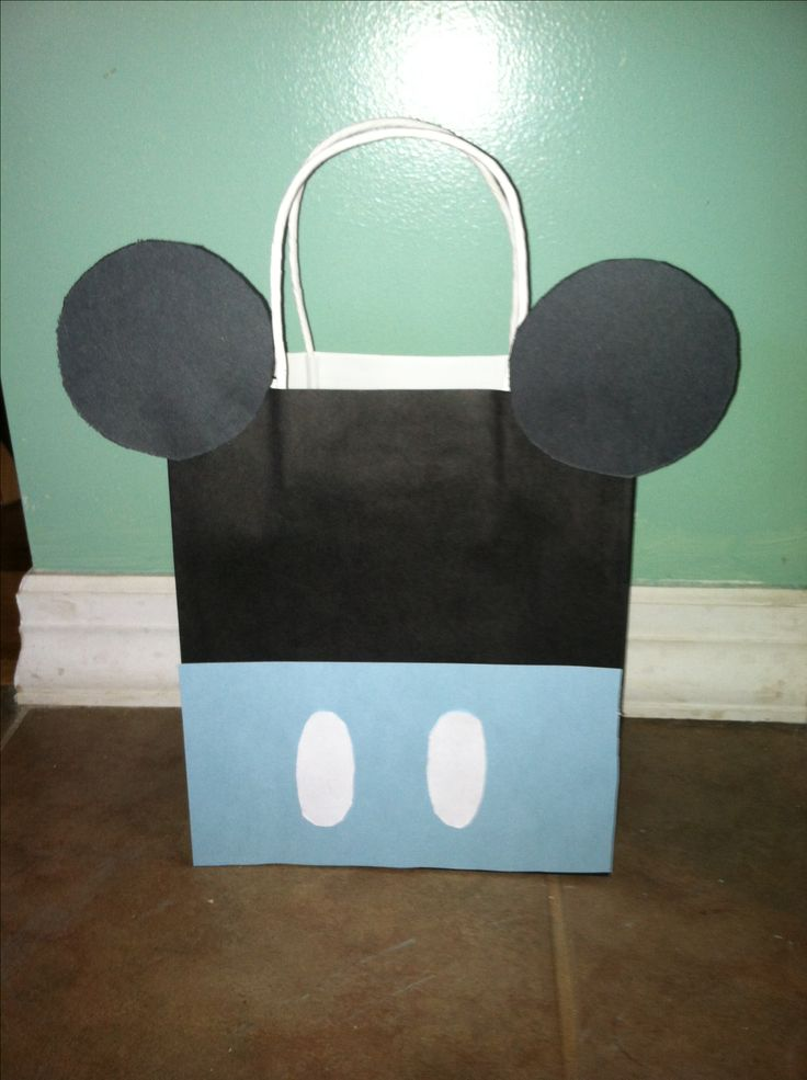 Goodie bags for baby Mickey mouse first birthday party idea