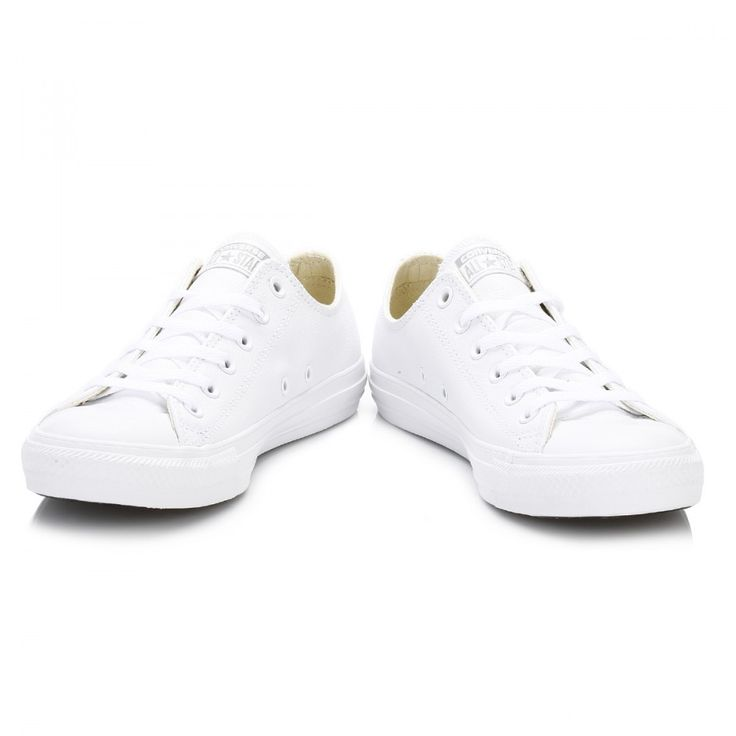 Converse Mens Womens White All Star OX Leather Trainers