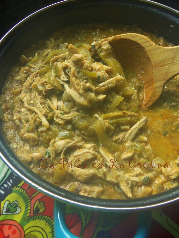 Chicken Chile Verde-Pollo Con Chile Verde