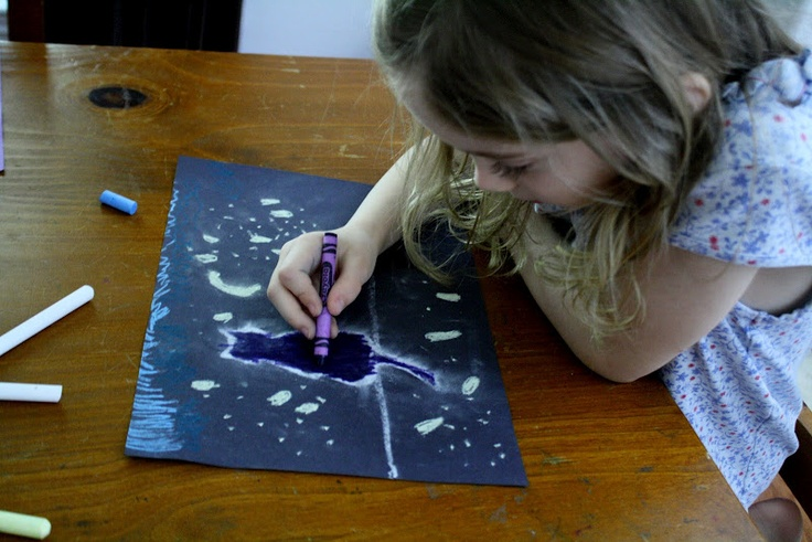 Having Fun at Home: Preschool Art Lesson: Light and Perspective