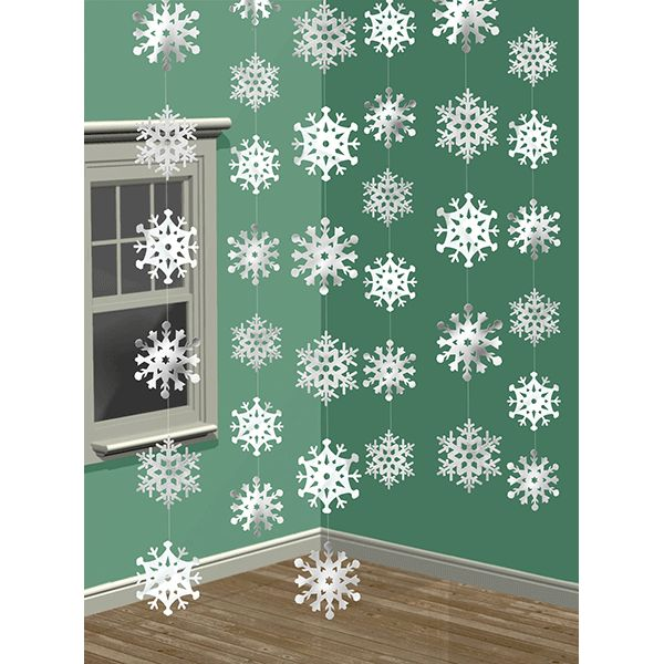 Bring the beauty of snow indoors with the Snowflake String Decoration. The…
