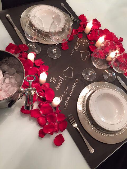 arreglo de mesa san valentin