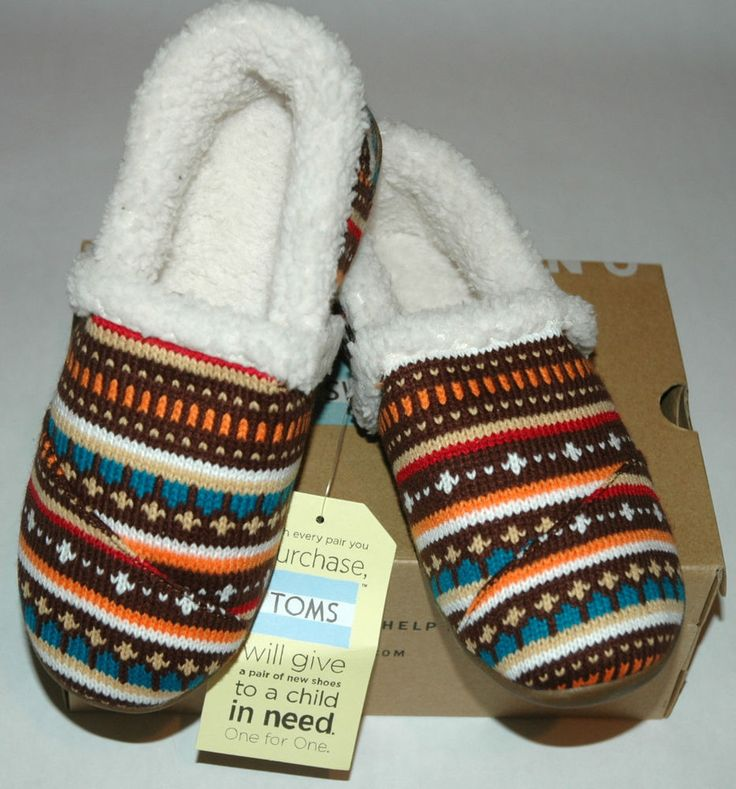 TOMS Youth Slipper Earth Woolen Fair Isle Youth Size 3 #TOMS ...