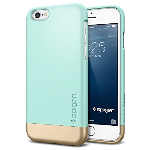 iPhone 6 Case, Spigen® [Safe Slide] iPhone 6 (4.7) Case Protective [Style Armor] [Mint] SOFT-Interior Scratch Protection Metallic Finished Base with Dual Layer Protection Slim Trendy Hard Case for iPhone 6 (4.7) (2014) - Mint (SGP11046) Spigen http://smile.amazon.com/dp/B00LL6B30I/ref=cm_sw_r_pi_dp_bMRoub1G89ADG