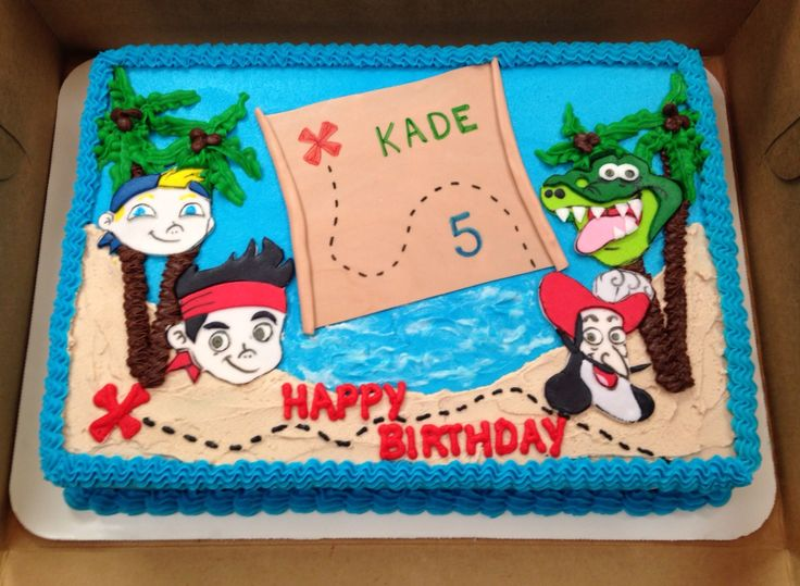 Jake & The Neverland Pirates Sheet Cake