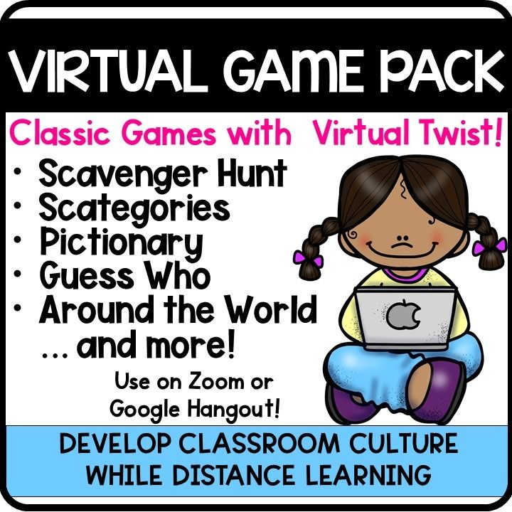 Distance Virtual Learning Game Pack Distance Learning Virtual Games Online Learning Games