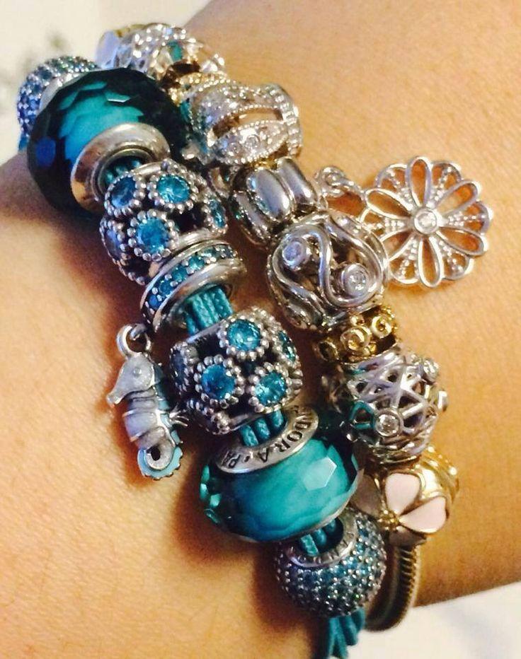 Beach themed, chunky bracelets, oh so cute :)