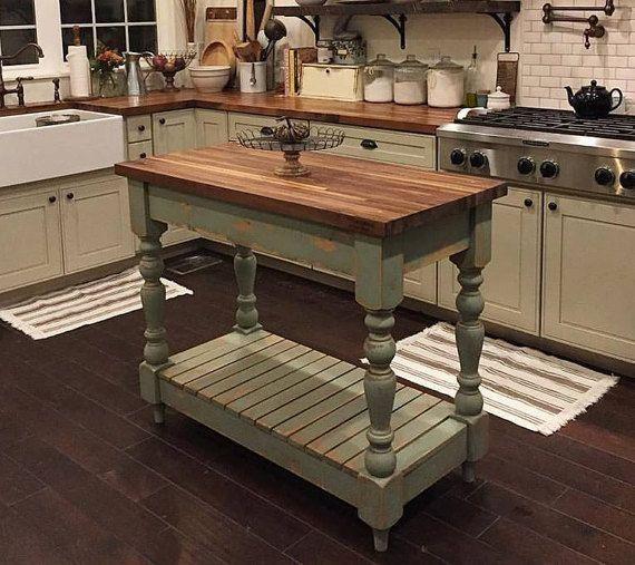 Farmhouse Butcherblock Kitchen Island Etsy Kitchen Remodel Small Kitchen Design Small Kitchen Remodeling Projects