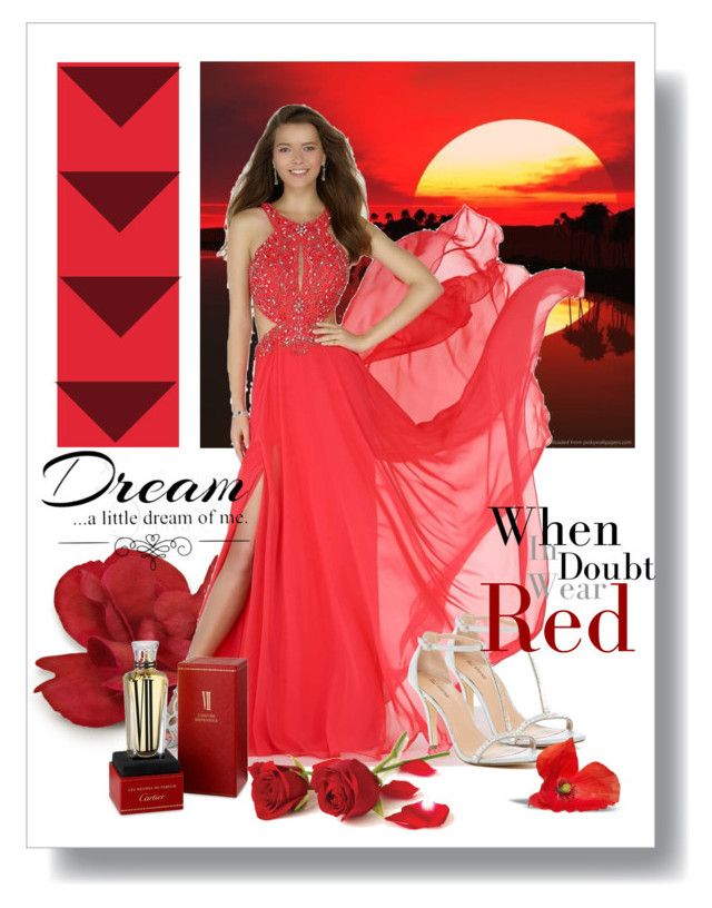 M s red dress in advert company