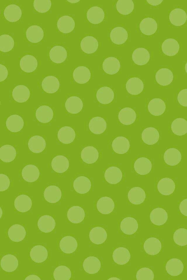 Green/polka dots background