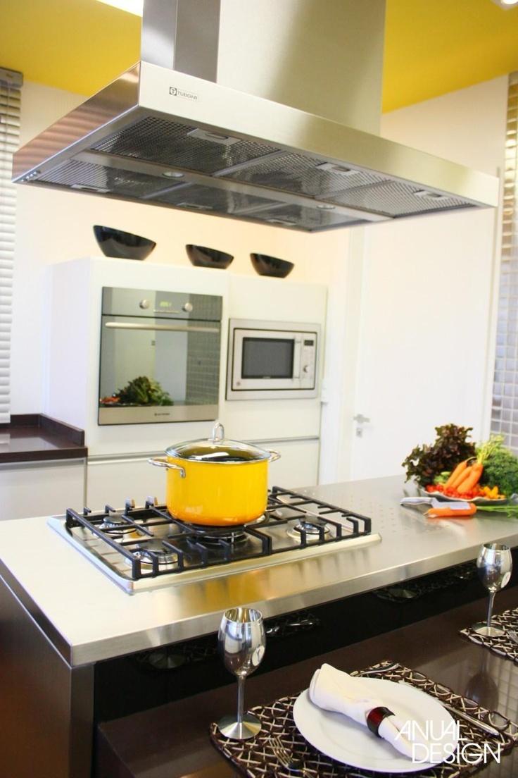 Al al alno kitchen cabinets chicago -  Cozinhaamarelobrancocinza E Se O Teto For Amarelo