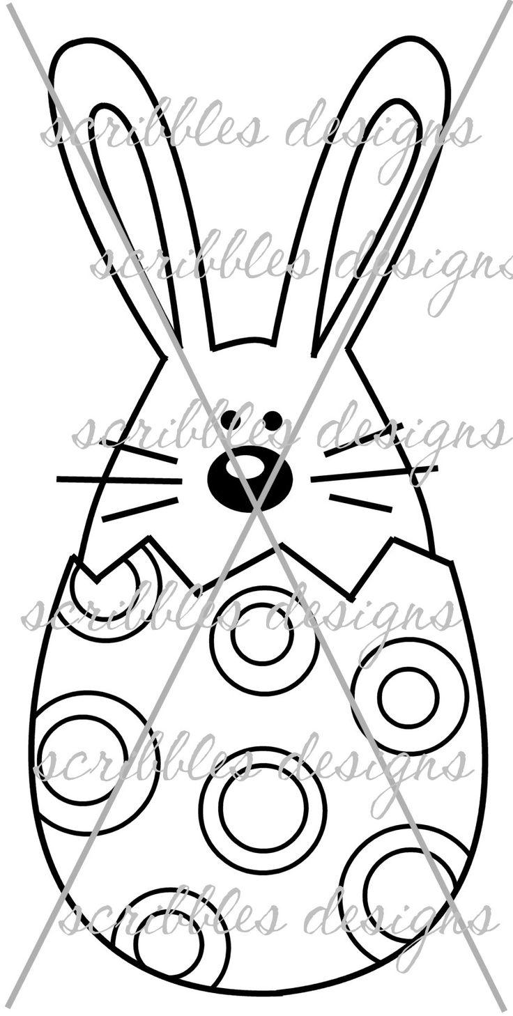 $3.00 Hoppy Egg 5 (http://buyscribblesdesigns.blogspot.ca/2014/03/427-hoppy-egg-5-300.html) #digital stamps #digis #bunny #Easter #egg #scribbles designs