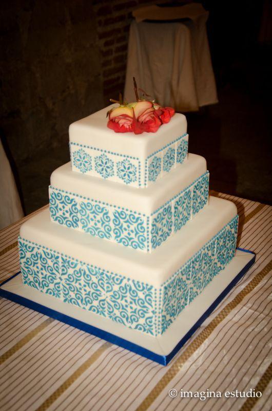 Beautiful Talavera Style Cake
