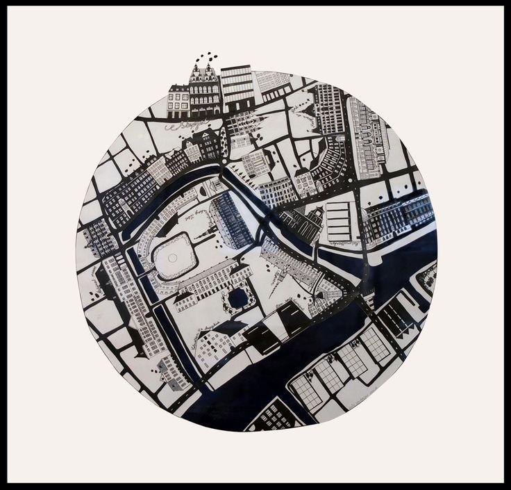 København Indre By Original drawing made of ink. May 2012.