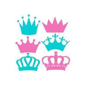 Corona Svg Svg coronas, corona monograma Svg, Svg de corona de princesa, archivos de corte Cricut, silueta cortar archivos