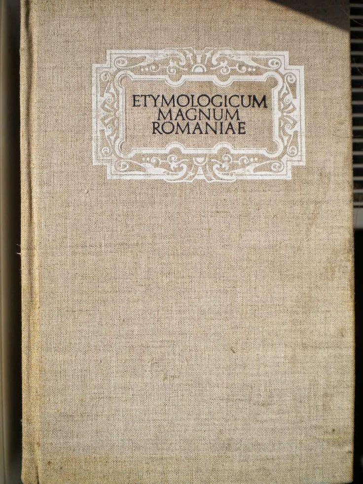 Little bookshop: Etimologicum Magnum Romaniae tom 3
