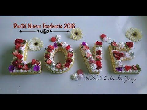 Galleta/Pastel Letras Nueva Tendencia - YouTube