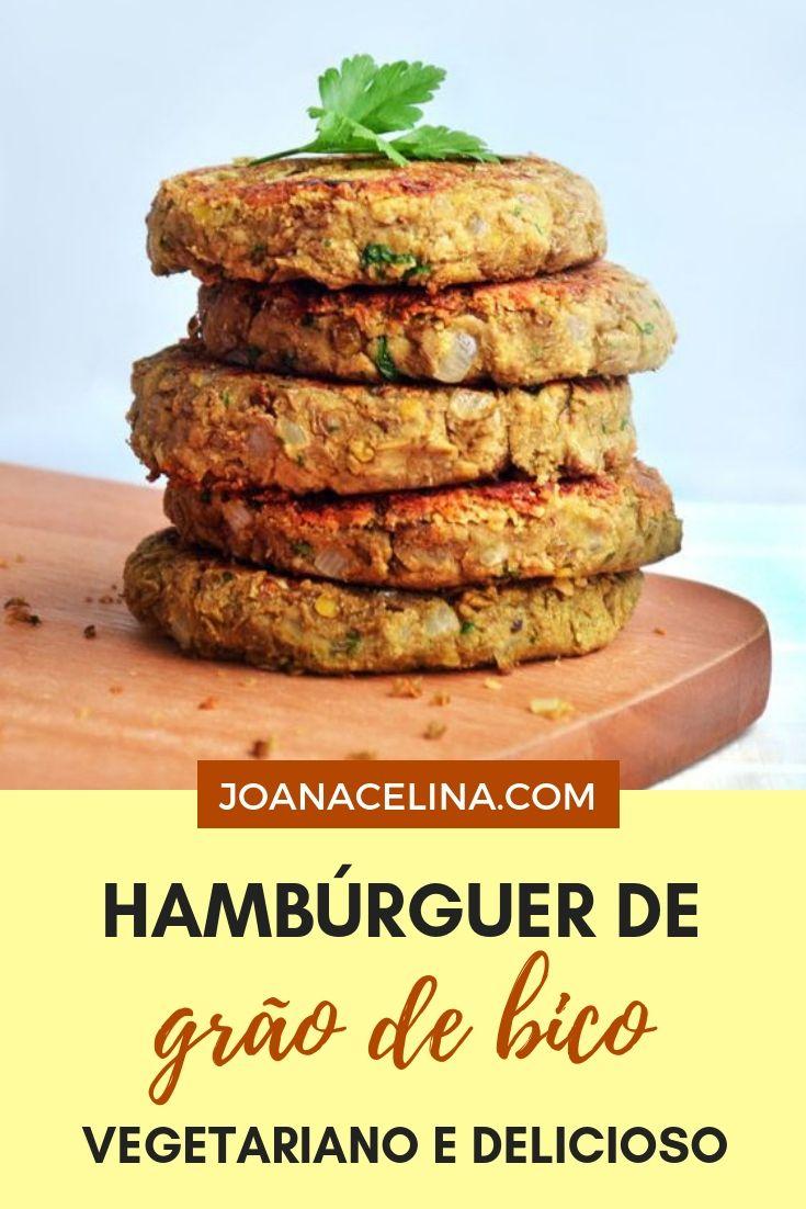 Hamburguer de grão de bico em 6 etapas   – receitas veganas.