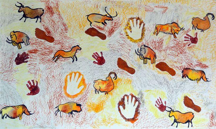 La maternelle d Elsa » Archive du blog » Fresque préhistorique