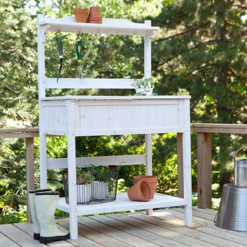 Coral Coast Gardener S Choice White Wash Potting Bench