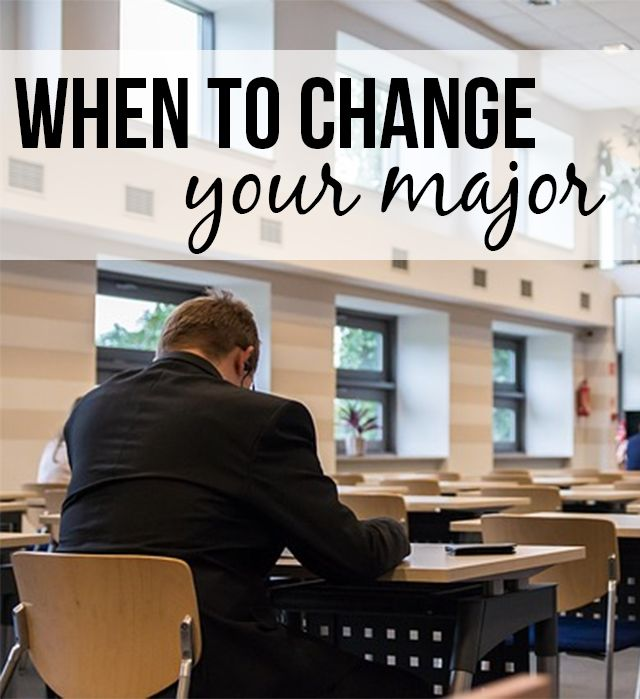 changing your major If you are contemplating changing your major, you are not alone at least 80 percent of undergraduate students switch majors at least once before graduation there are many good reasons to change.