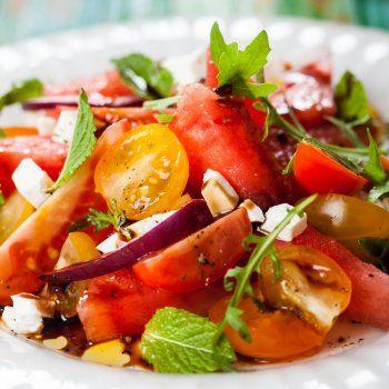 Salade de tomates au cervelas