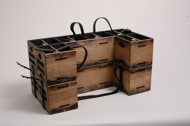 The Tessellated Wine Crate/Rack was designed by Temper Studio in collaboration with designer Kacper Hamilton for the sixth Wallpaper* Handmade exhibition, dedicated to craftsmanship and design. temperstudio.com