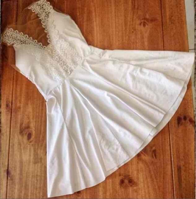 Women Sleeveless Strapless Meash Gauze Lace White Chiffon Party Summer Mini Dress