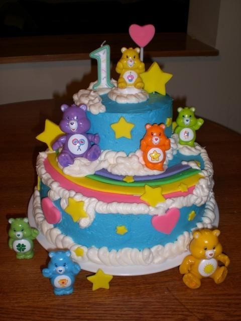 Care Bear Celebrate with Cake!: Care Bears Cake girl boys party cake cupcake cake pop birthday rainbow