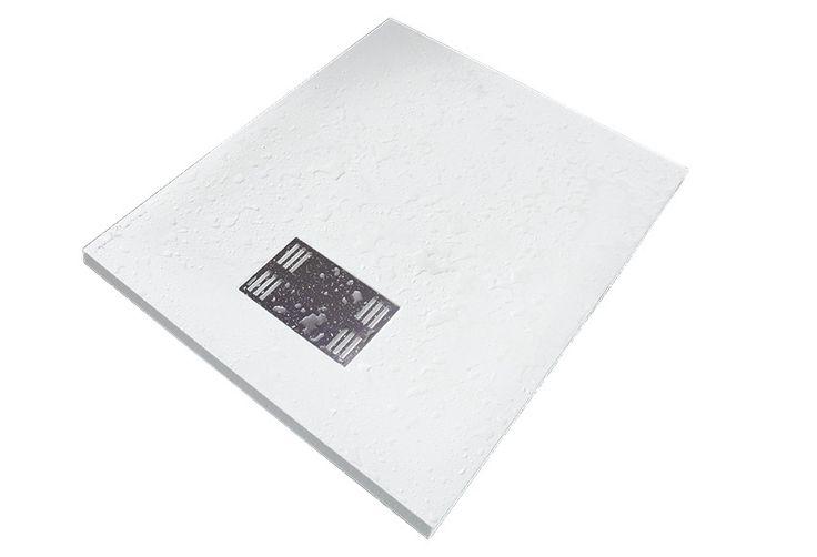 Plato de ducha carga mineral sensea slate blanco ref - Platos de ducha leroy merlin ...
