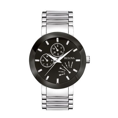 Men's Bulova Chronograph Watch with Black Dial