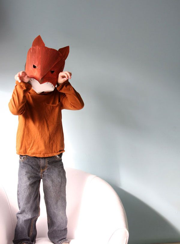 Mask making a tutorial for making super cute paper for Fantastic mr fox mask template