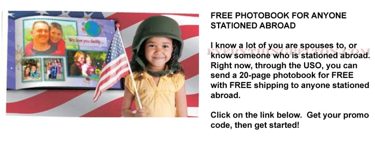 FREE PHOTO BOOK: FREE photo book and shipping for soldiers