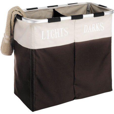Whitmor Easycare Double Laundry Hamper, Espresso - Walmart.com