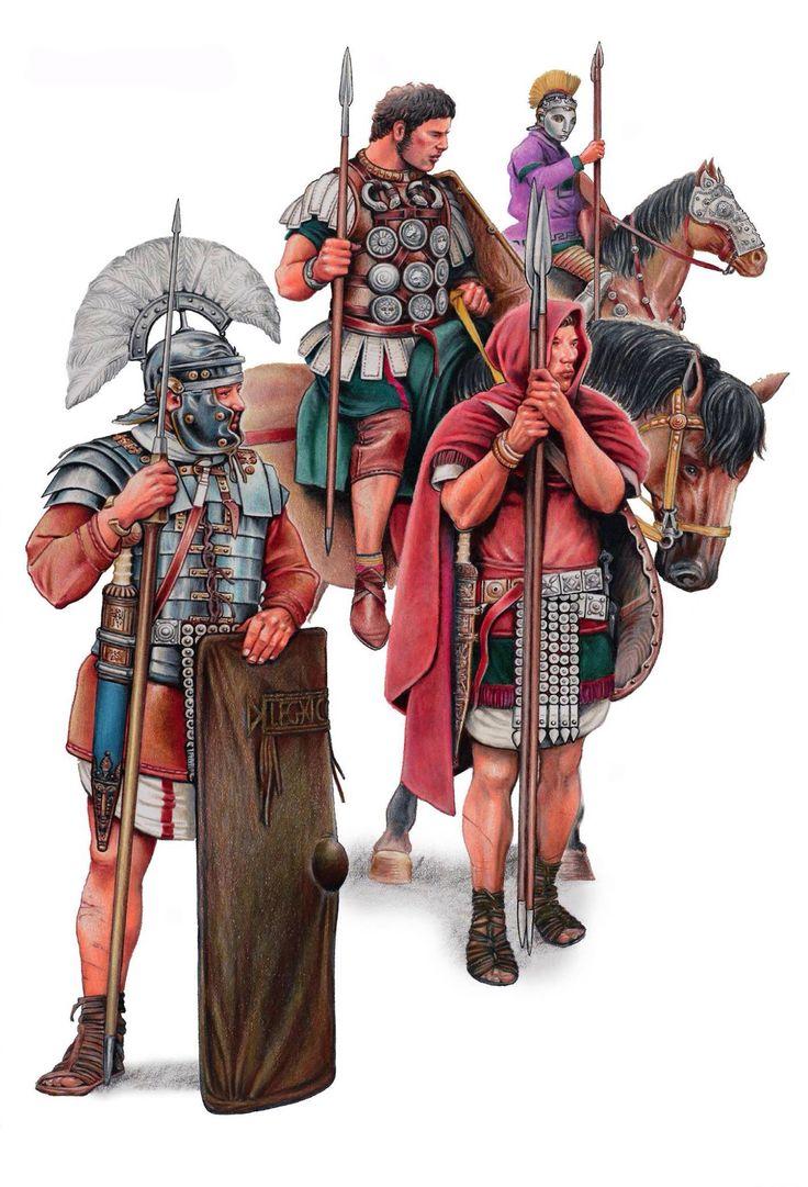 Римские солдаты в Германской провинции.