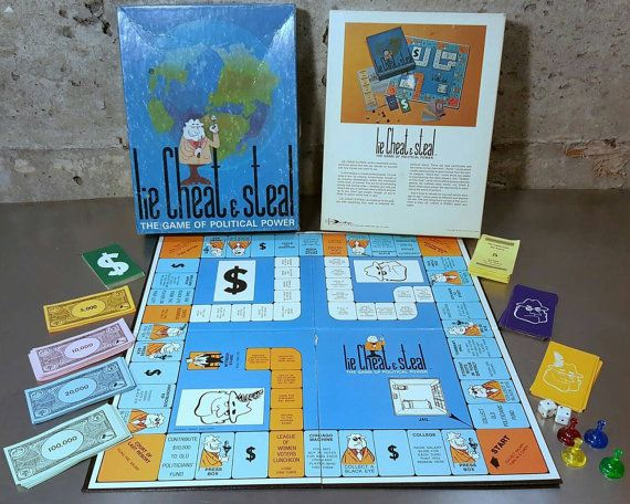 Check out this item in my Etsy shop https://www.etsy.com/listing/265322384/vintage-70-s-board-game-lie-cheat-steal