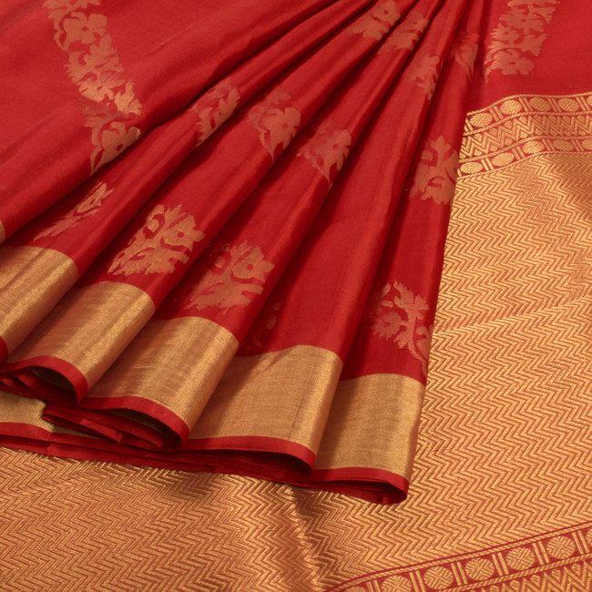 Handwoven Uppada Silk Saree With Neelambari Butta 10010852 - AVISHYA.COM