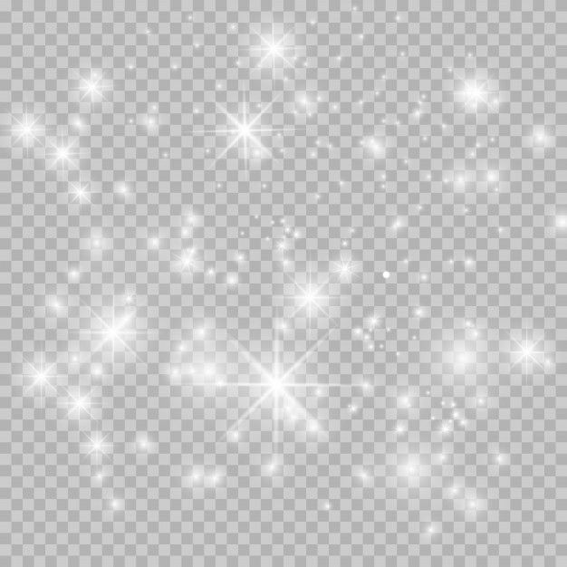 Set Of Stars On A Transparent White And Gray Background On A Chessboard Gray Background Sparkles Background Glitter Background