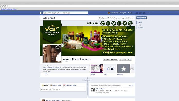 facebook business page design