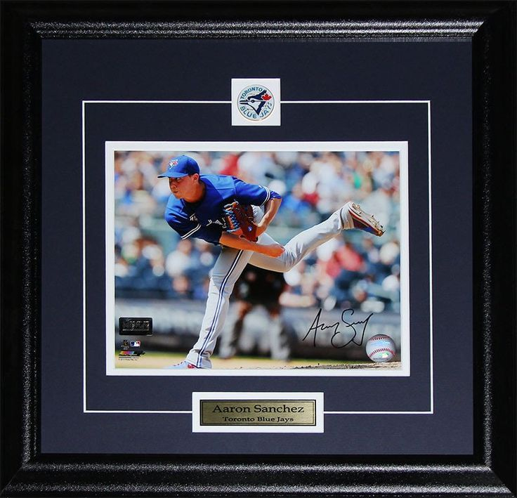 Aaron Sanchez Toronto Blue Jays Signed 8x10 photo framed $250.00 plus tax