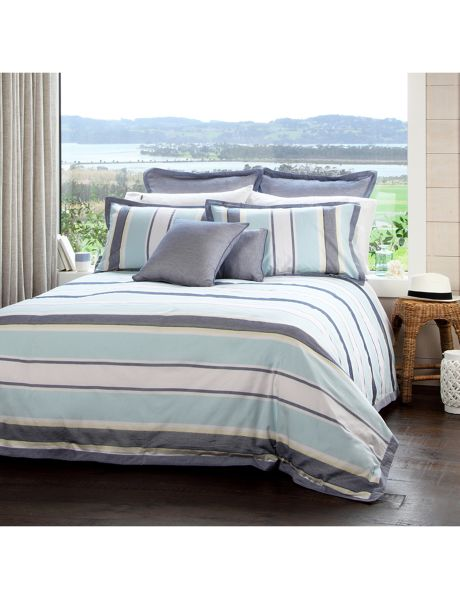 This duvet cover set by Domani is inspired by the coastline of Italy and the peaceful lifestyle that resides by the water.